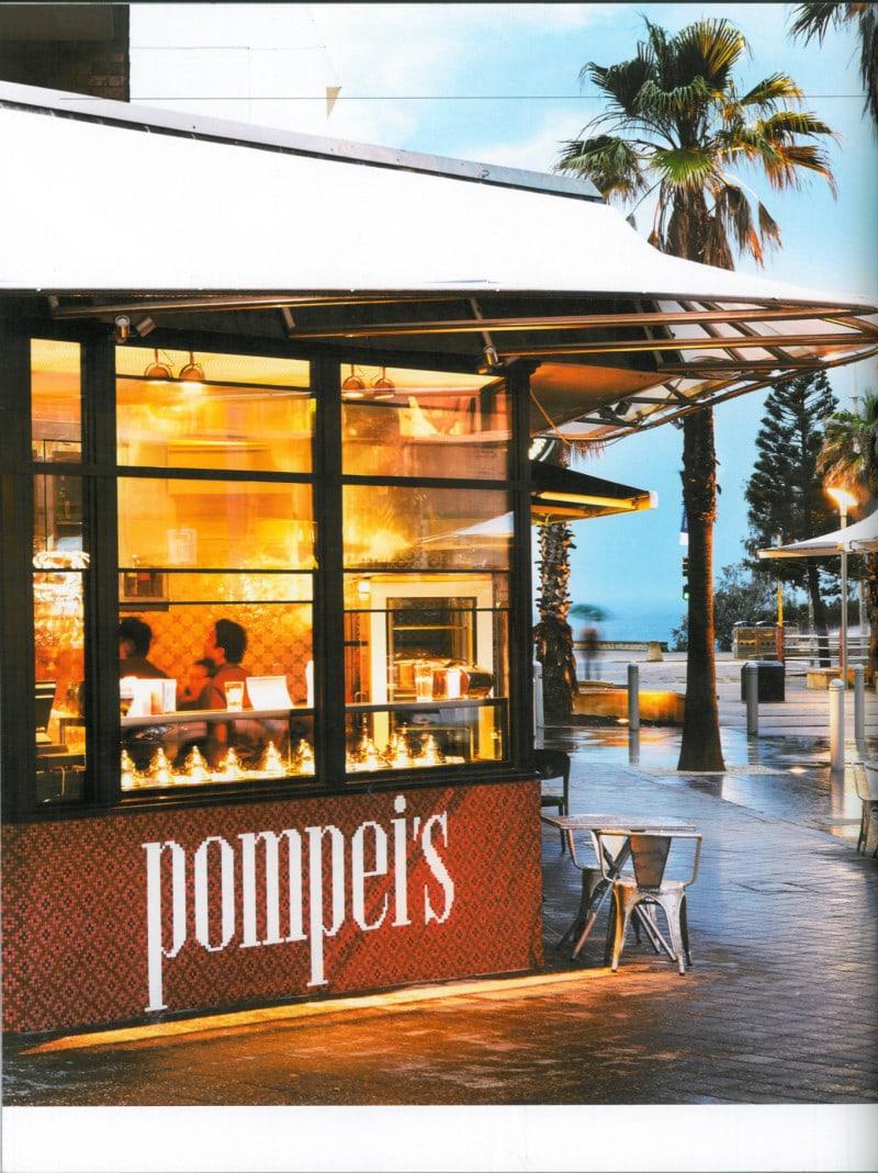 Luigi Rosselli, Cafe, Restaurant Design, Pompei's