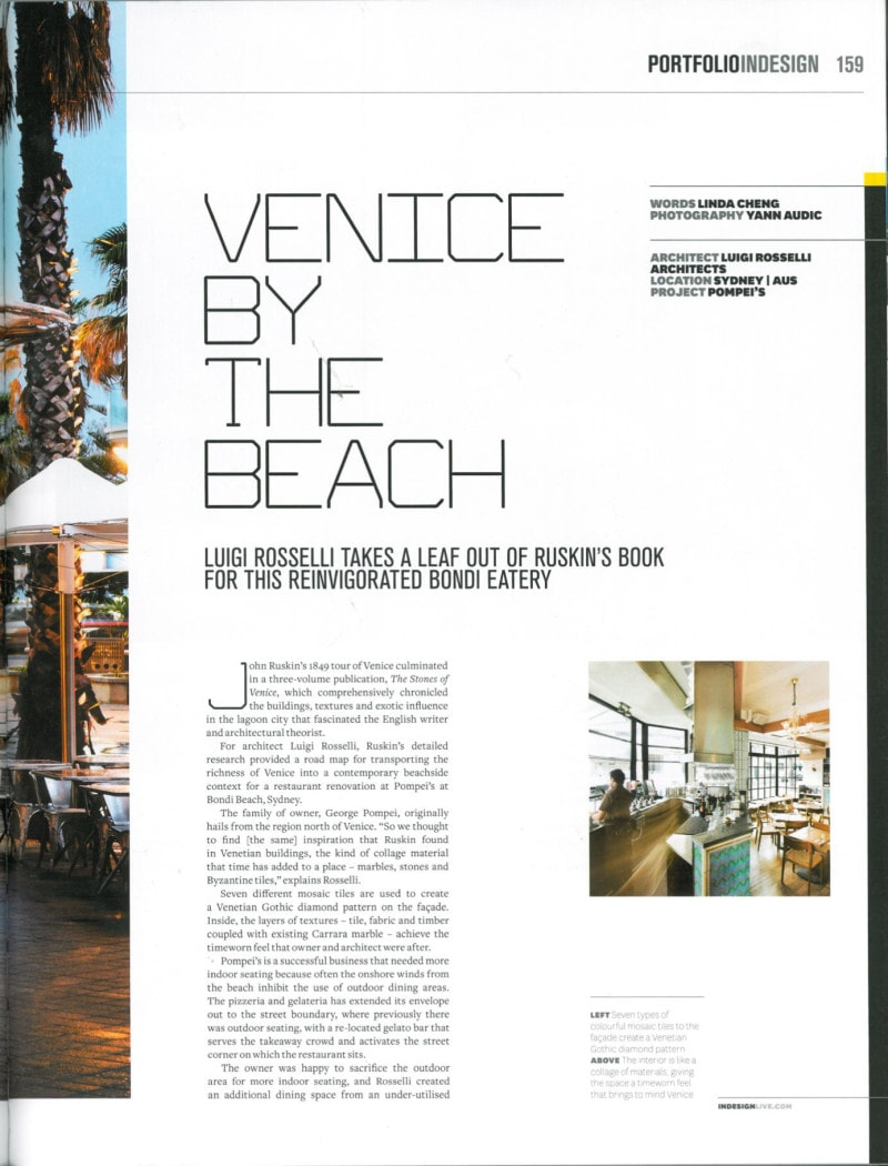 Luigi Rosselli Architects | Indesign 2012
