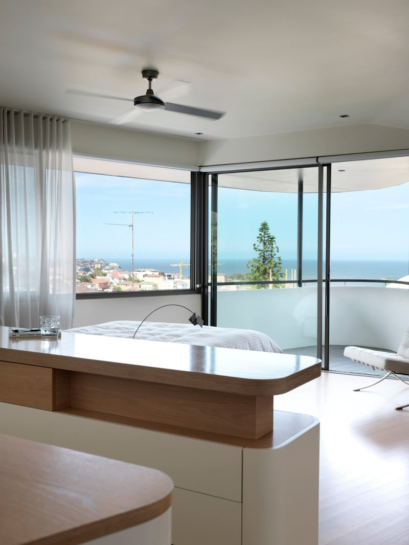 Luigi Rosselli, Bedroom joinery, Waterfront View, Waterfront Property, Waterfront Joinery Bedhead