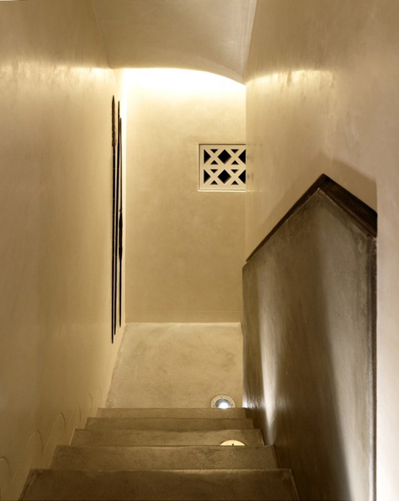 Luigi Rosselli, Waxed concrete finish on a stair