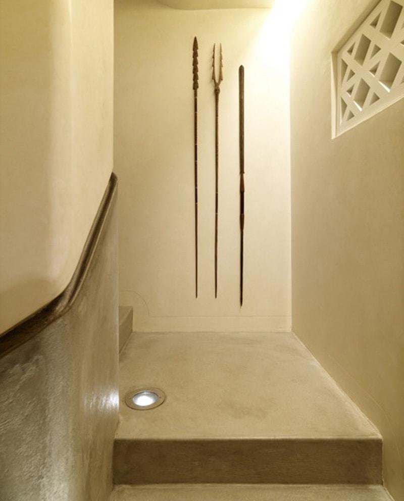 Luigi Rosselli, Concrete Handrail, Waxed Concrete Finish