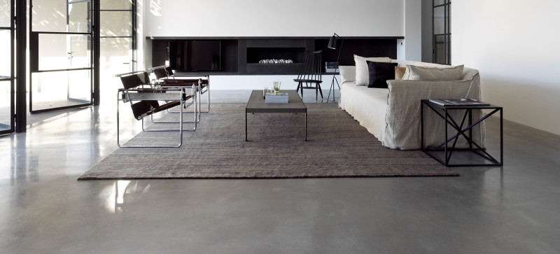 Polished concrete floor, Luigi Rosselli