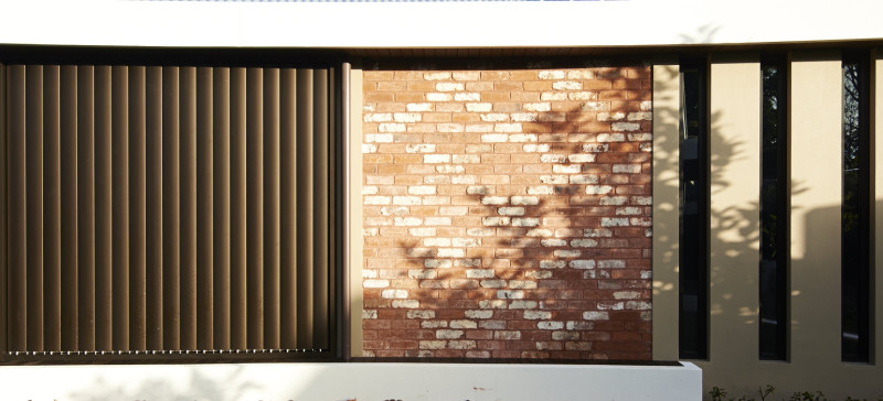 Diamond Pattern, Recycled Brick Wall, Aluminum Cladding