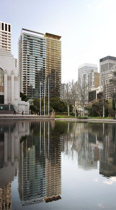 Luigi Rosselli, Anzac Memorial, Sydney, High Rise Tower, Render, Architecture Competition Design