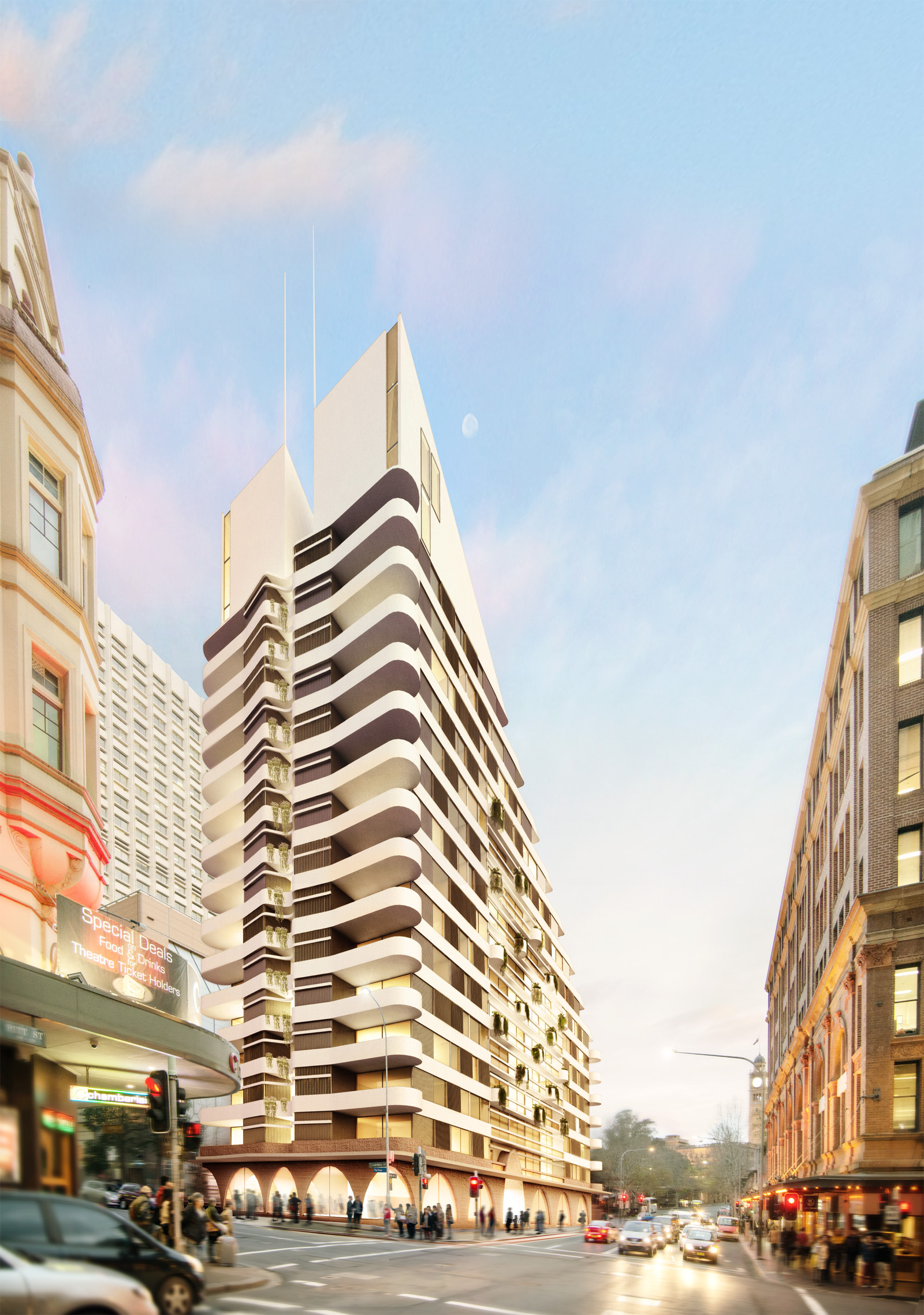 Luigi Rosselli, Sydney, High Rise Tower, Render, Architecture Competition Design