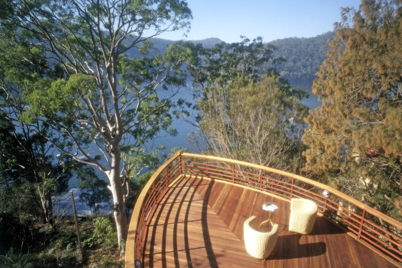 Luigi Rosselli, River House, Boat House, Timber Deck, Architecture
