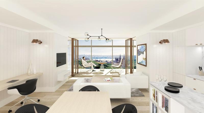 Luigi Rosselli, High Rise Tower, Render, Design