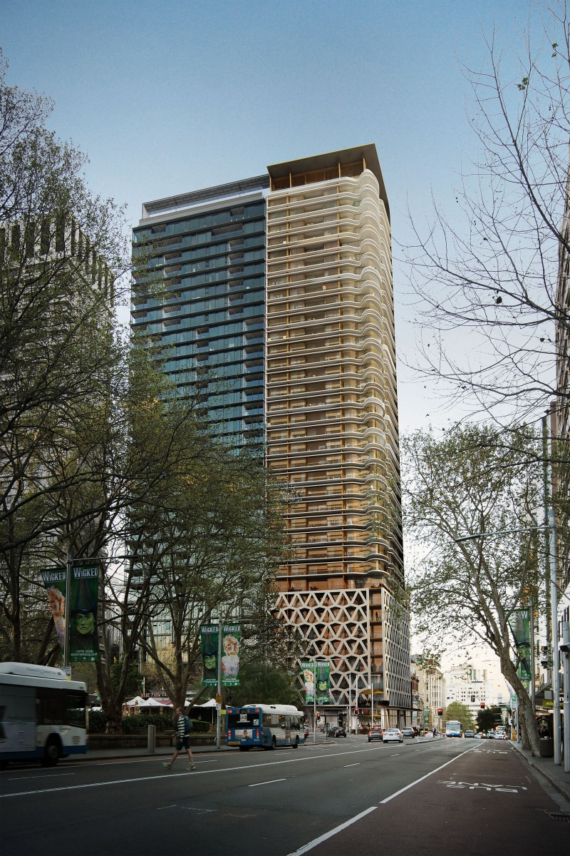 Luigi Rosselli Architects | Sydney's Latest Residential Towers' Designs Unveiled - Elizabeth Street Tower | © VIZarch