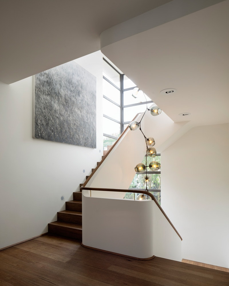 light filled stairwell