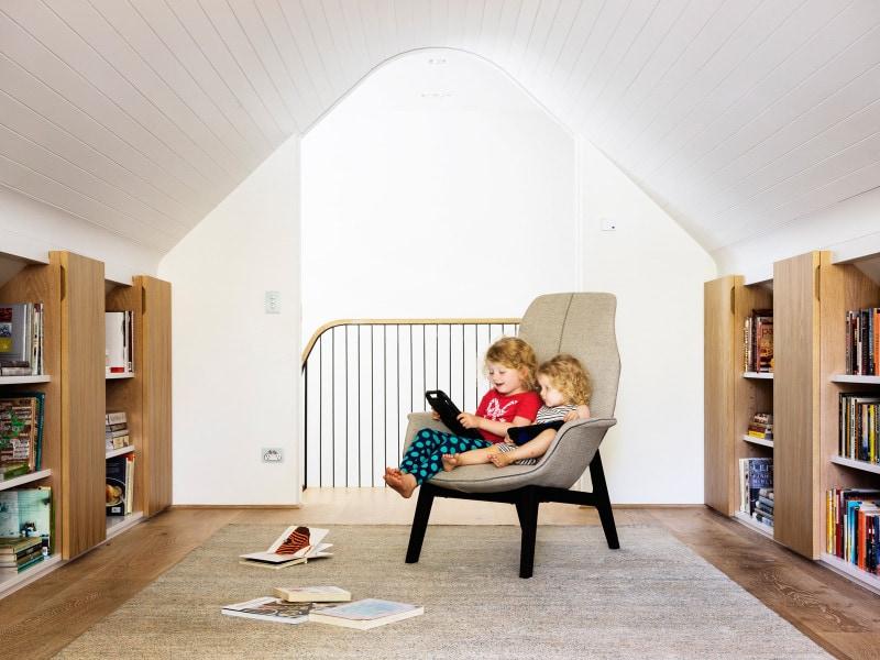 light filled attic retreat