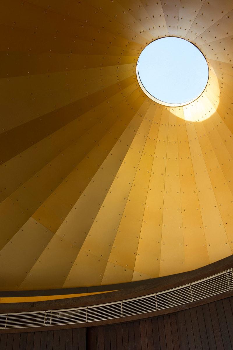 Cone Apex, Glass Skylight, Chapel, Luigi Rosselli
