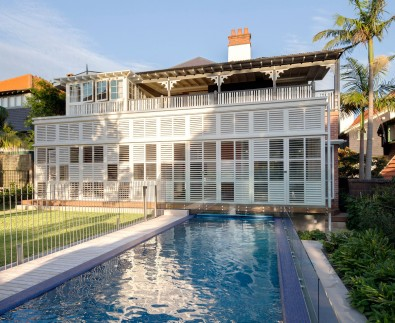 Luigi Rosselli, Operable White Timber Shutter Enclosed, Swimming Pool, Alterations and Additions