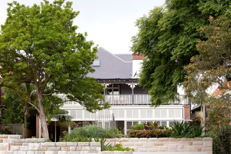 Luigi Rosselli, Adapted Federation Style Residence, Landscaped Front Garden, White Picket Fence