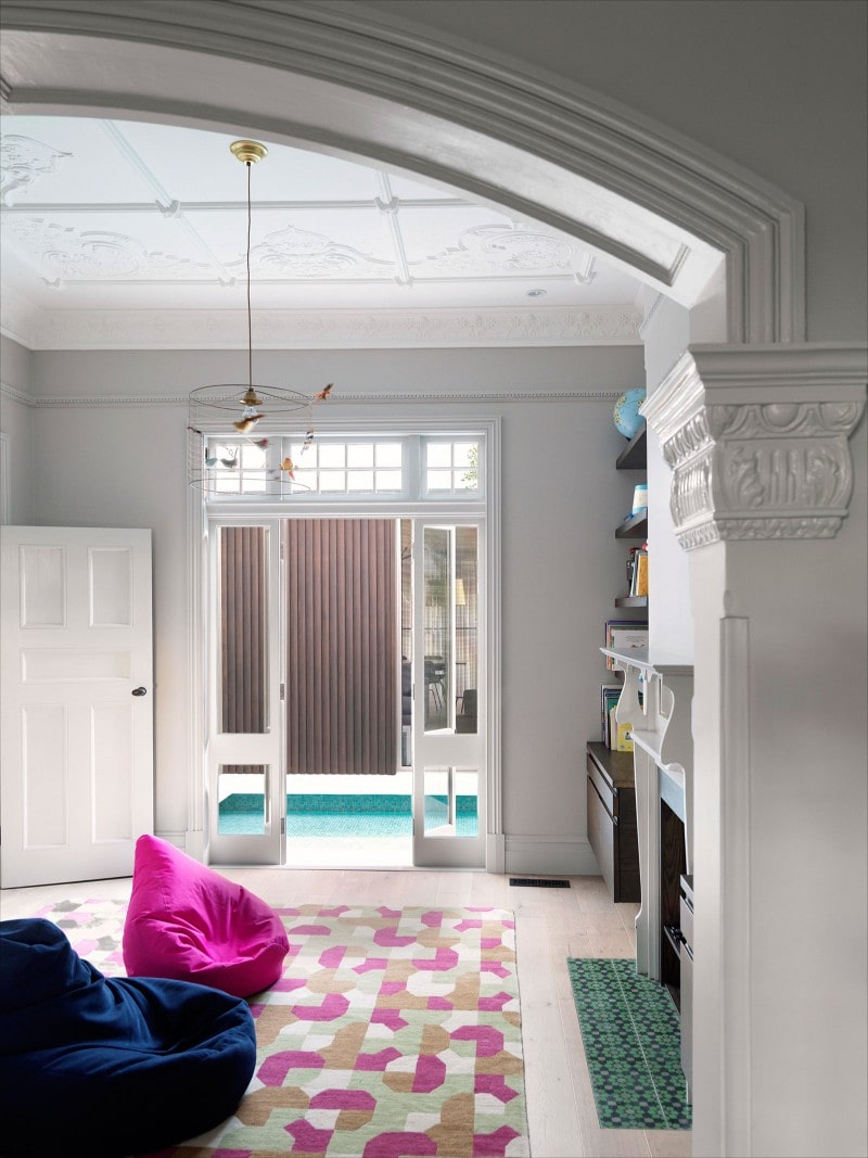 Traditional Mouldings, Traditional Ceiling, Curved Archway, Entry, Rumpus Room, Traditional Windows