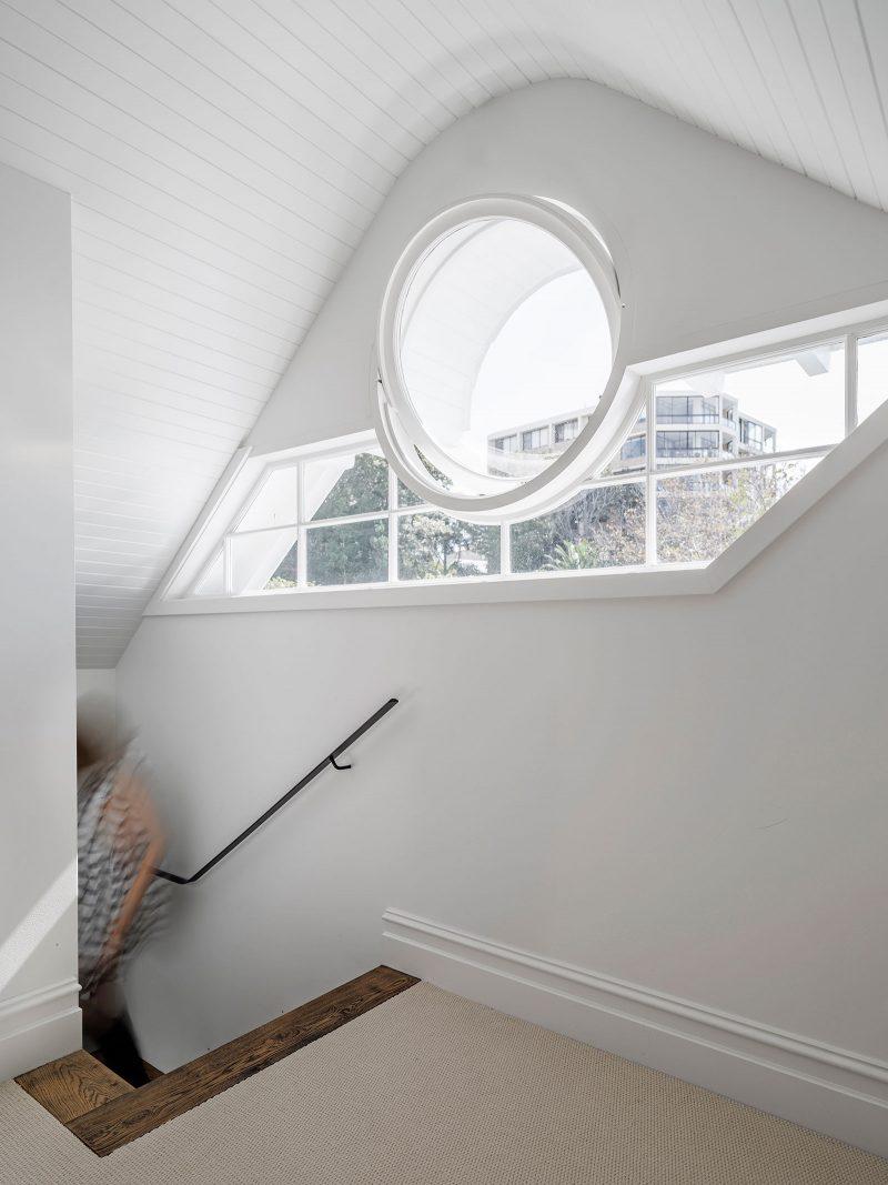 operable porthole timber framed window