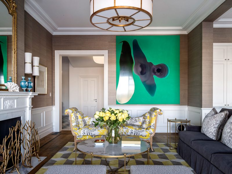 Luigi Rosselli, Renovated Queen Anne Style, Living Room