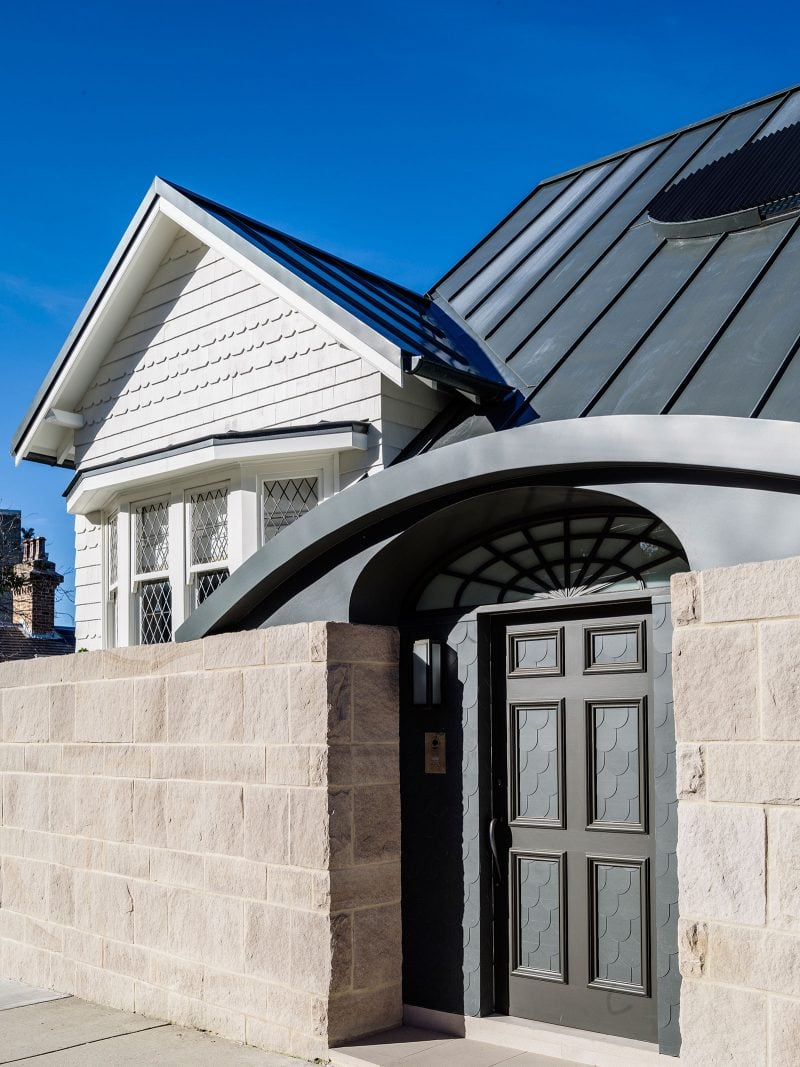 zinc roof queen anne style renovated house