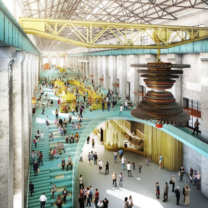 luigi rosselli architects renewal of a power station turbine hall