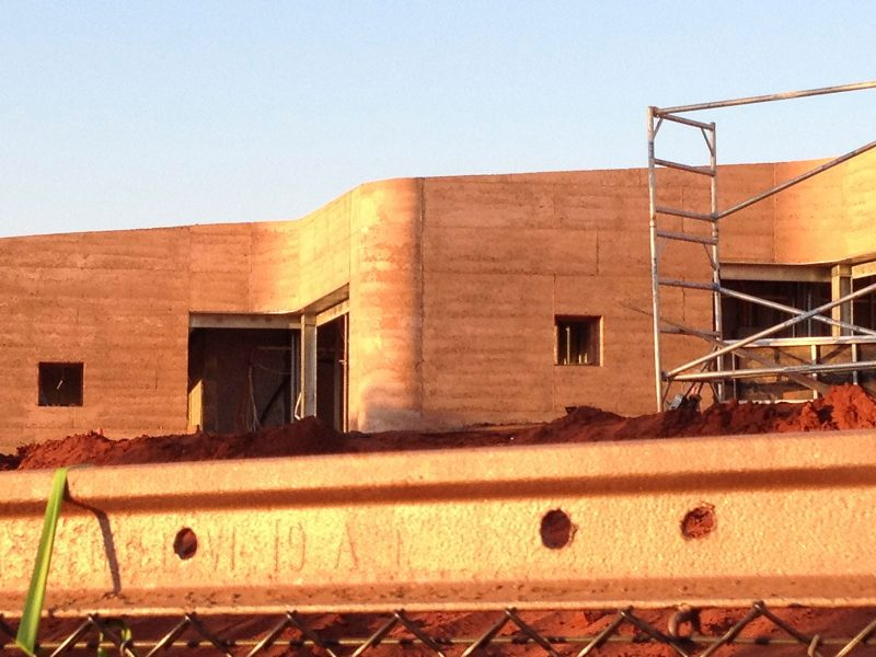 Luigi Rosselli Architect, Great Wall of WA, Rammed Earth, Rammed Earth Wall, Construction