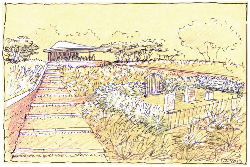 Luigi Rosselli Architect, Great Wall of WA, Rammed Earth, Perspective, Sketches, Luigi Rosselli Sketches