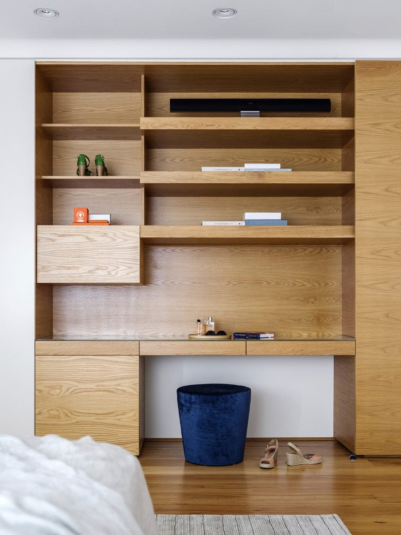 Timber Storage Unit, Timber Shelving, Built in joinery Unit