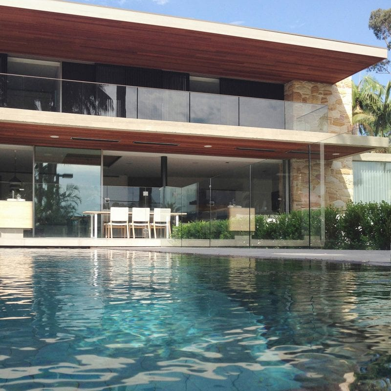 Luigi Rosselli, Stone, Stone Cladding, Stone Wall, Timber Shutters, Horizontal, Facade, Frameless Glass, Balcony, Terrace, Swimming Pool
