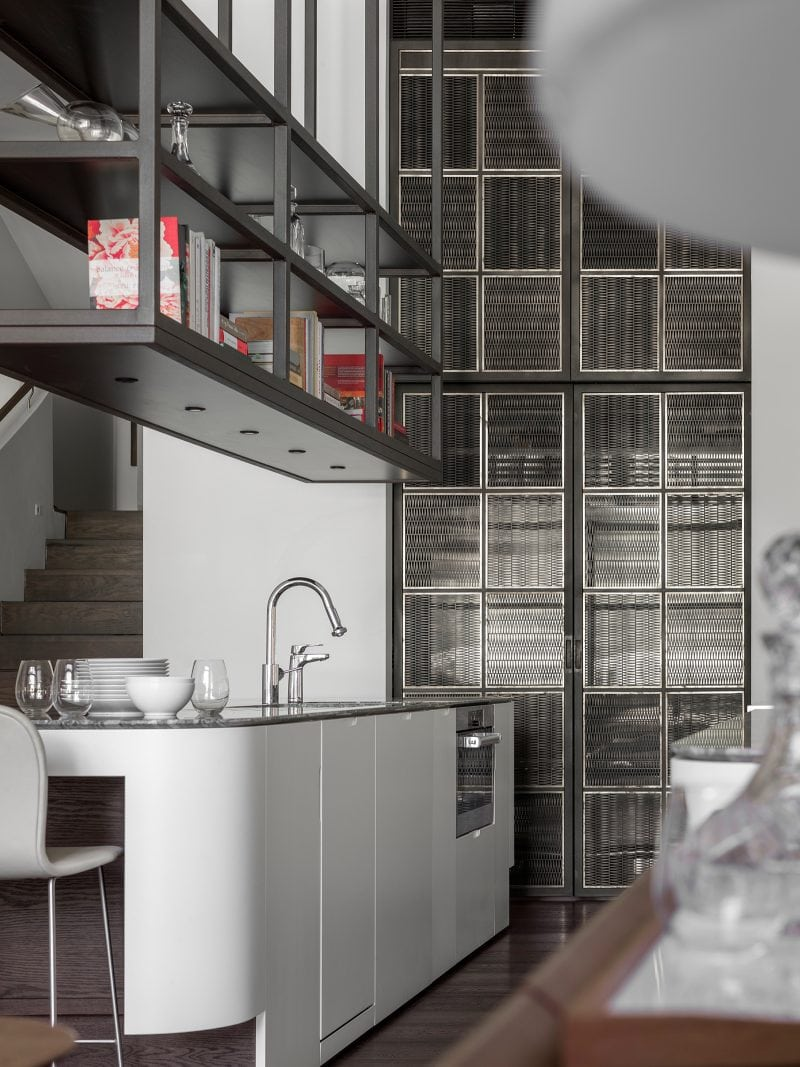 Luigi Rosselli, Kitchen, Kitchen Design, Custom Joinery, Open Shelving, White joinery