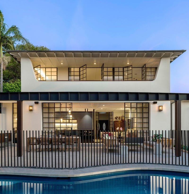 Luigi Rosselli Architects - Californian Bungalow renovation, pool, picket fence, steel windows