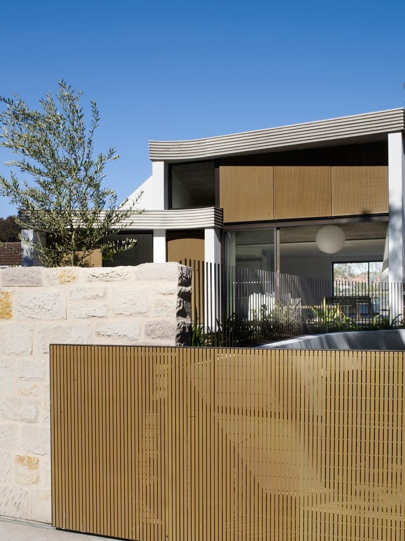 Luigi Rosselli Architects | The Triplex Apartments | Front Facade with Parking Entry