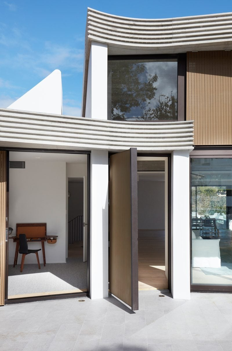 Luigi Rosselli Architects | The Triplex Apartments | Penthouse Front door and Study