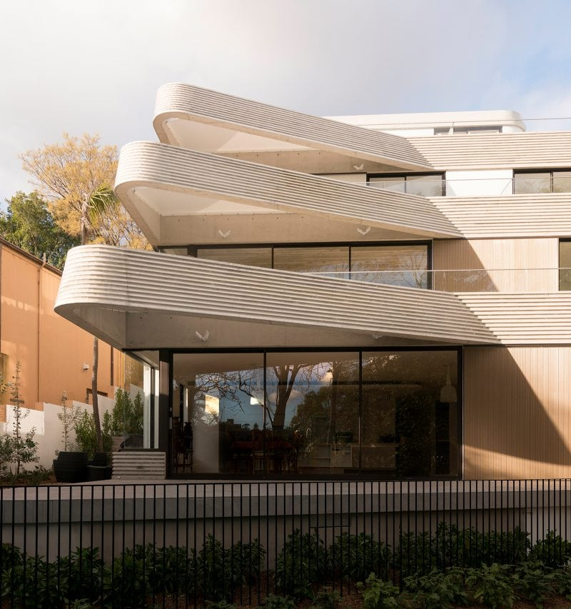 Luigi Rosselli, Concrete, Concrete Off Form Exposed, Terraces, Cantilever Awning, Aluminum Windows and Doors