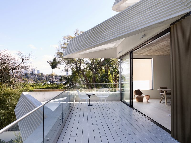 Luigi Rosselli, Deck, Cantilever, Timber Deck, Balcony, Aluminum sliding window