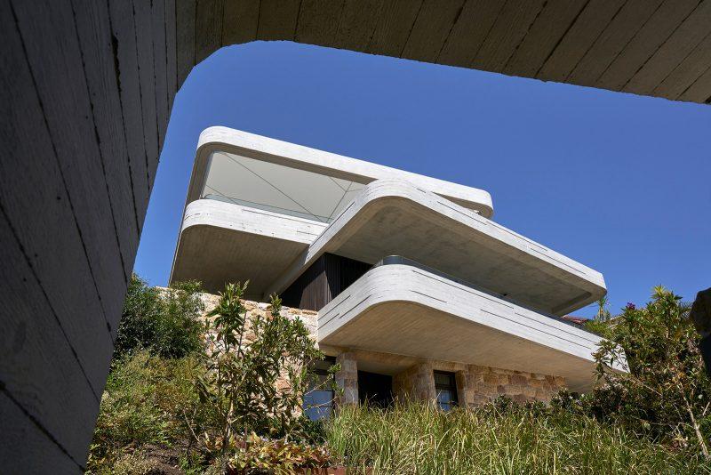 Luigi Rosselli, Concrete, Sandstone, Garden, Mosman, awning