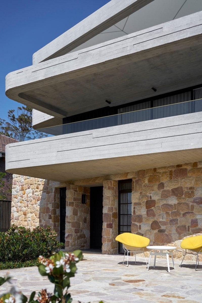 Luigi Rosselli, Concrete, Sandstone, Garden, Mosman, paving, outdoor living