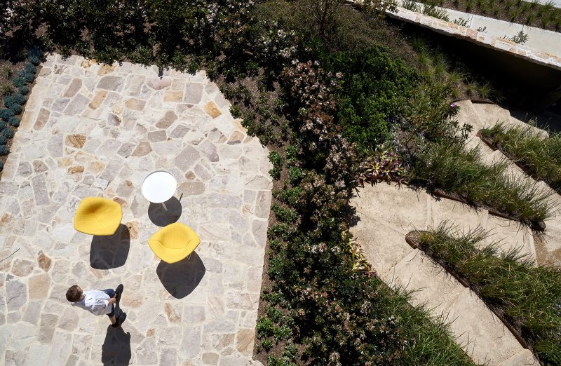 Luigi Rosselli, dragon path, William Dangar, sandstone paving, outdoor living