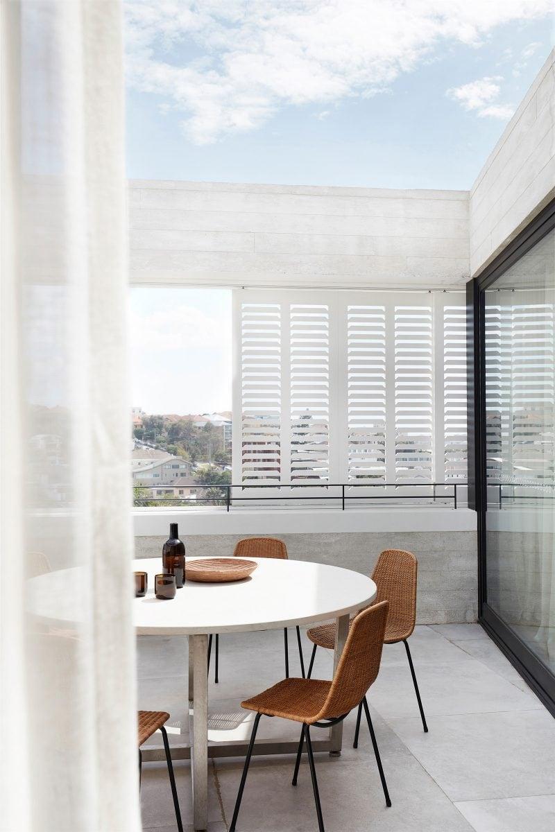 Tamas Tee House white timber shutters