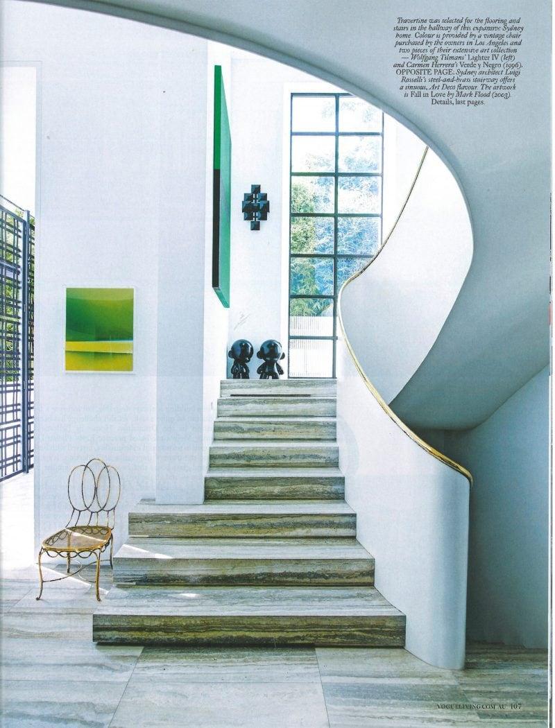 Luigi Rosselli, Curved Stair, Brass