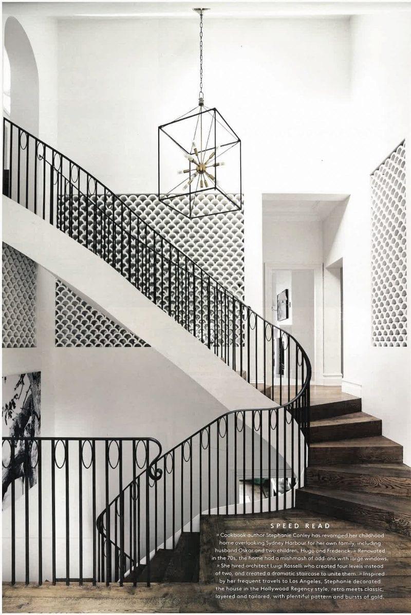 Luigi Rosselli, Curved Stair, Steel Stair Balustrade