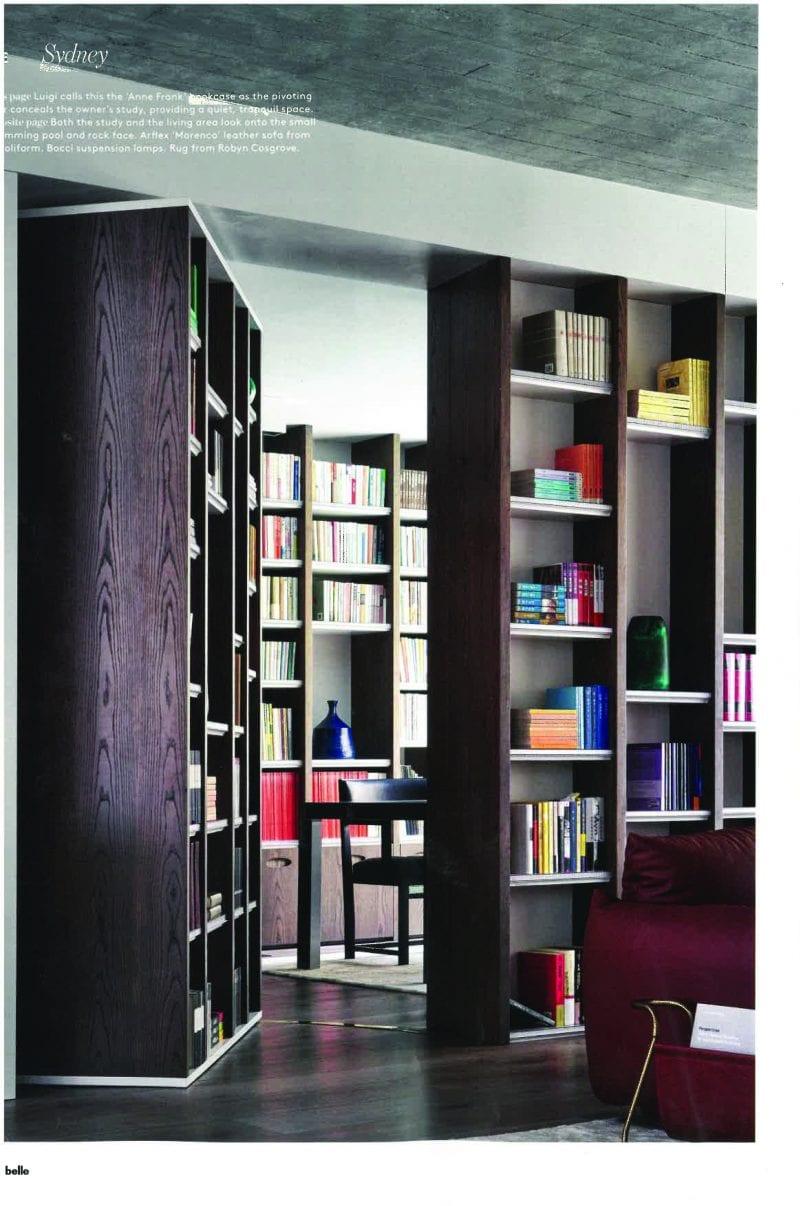 Luigi Rosselli, Library, Bookshelf, Concealed Library, Concealed Door