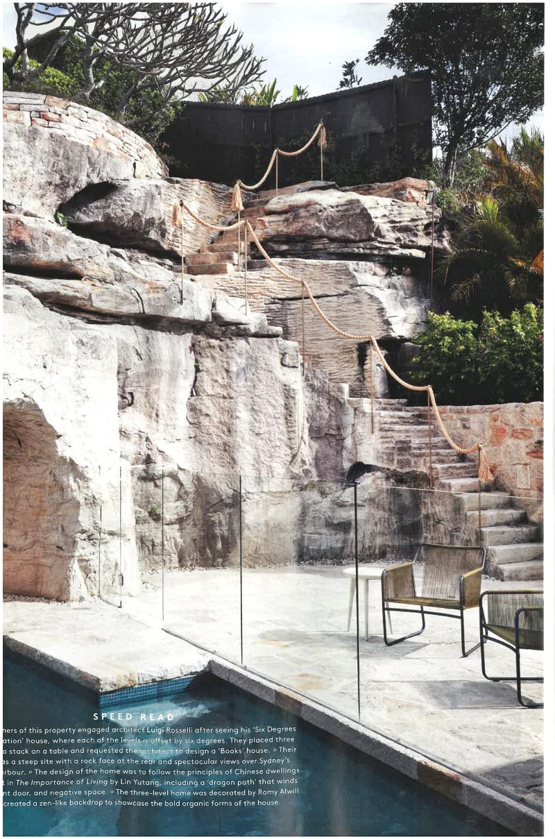 Luigi Rosselli, Sandstone, Sandstone Steps, Stone Steps, Swimming Pool