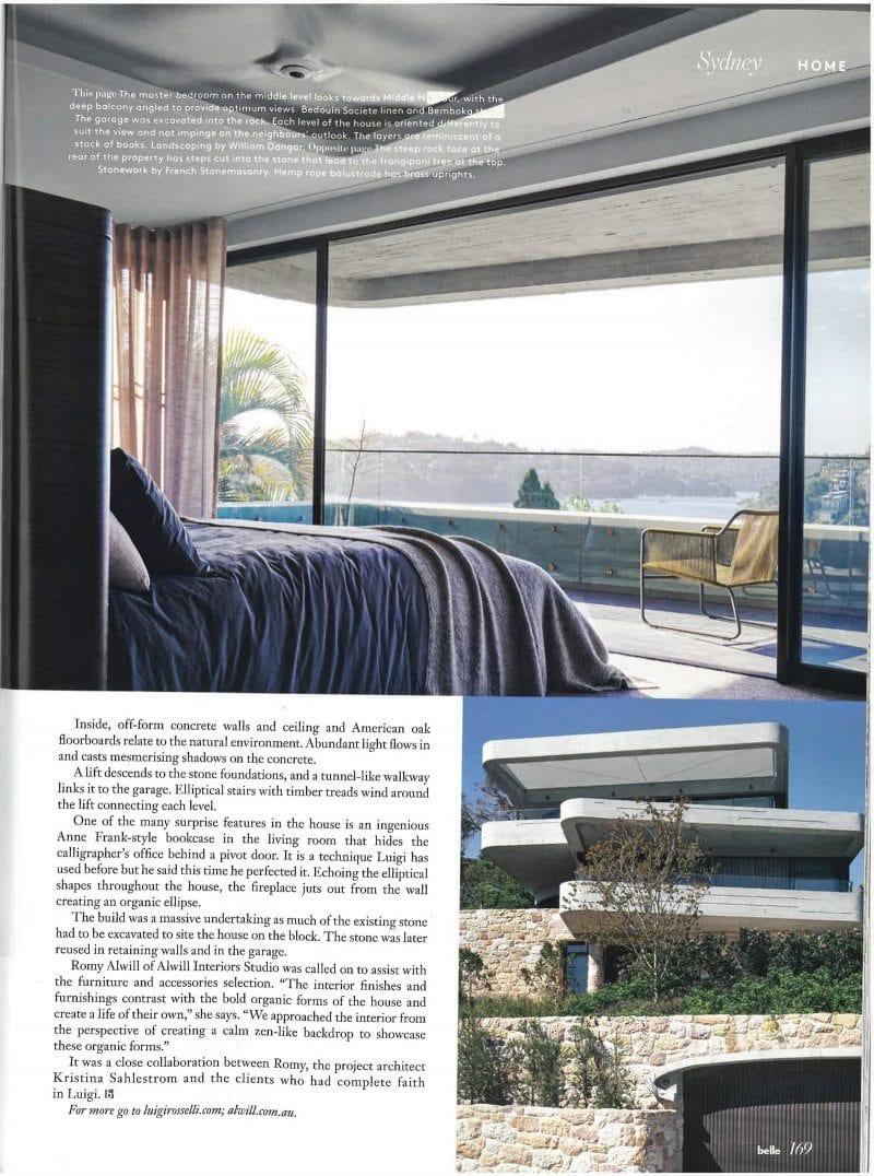 Luigi Rosselli, Bedroom, Concrete, Concrete Balcony, Sandstone, Timber Garage