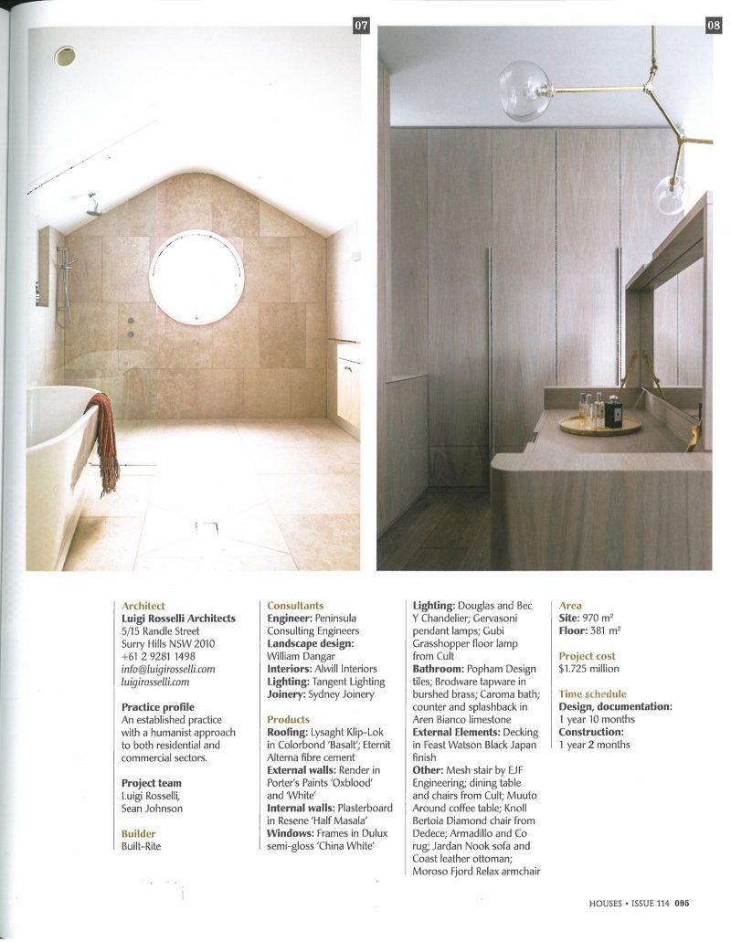 Luigi Rosselli, Arch, Oval Window, Walk in Robe, Cabinetry