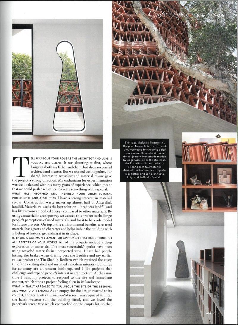 Luigi Rosselli Architects | The Beehive | Belle Magazine