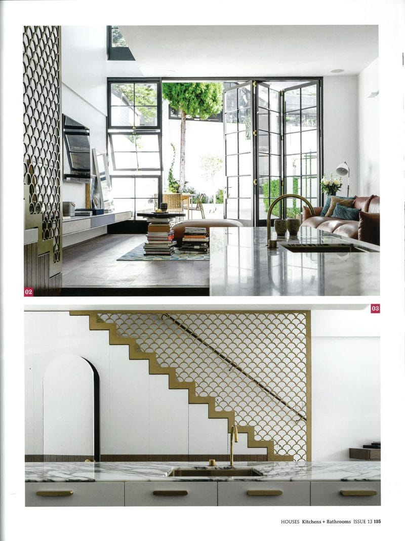 Luigi Rosselli, Brass Balustrade, Brass Screen, Aluminium Windows, Kitchen, Kitchen Design