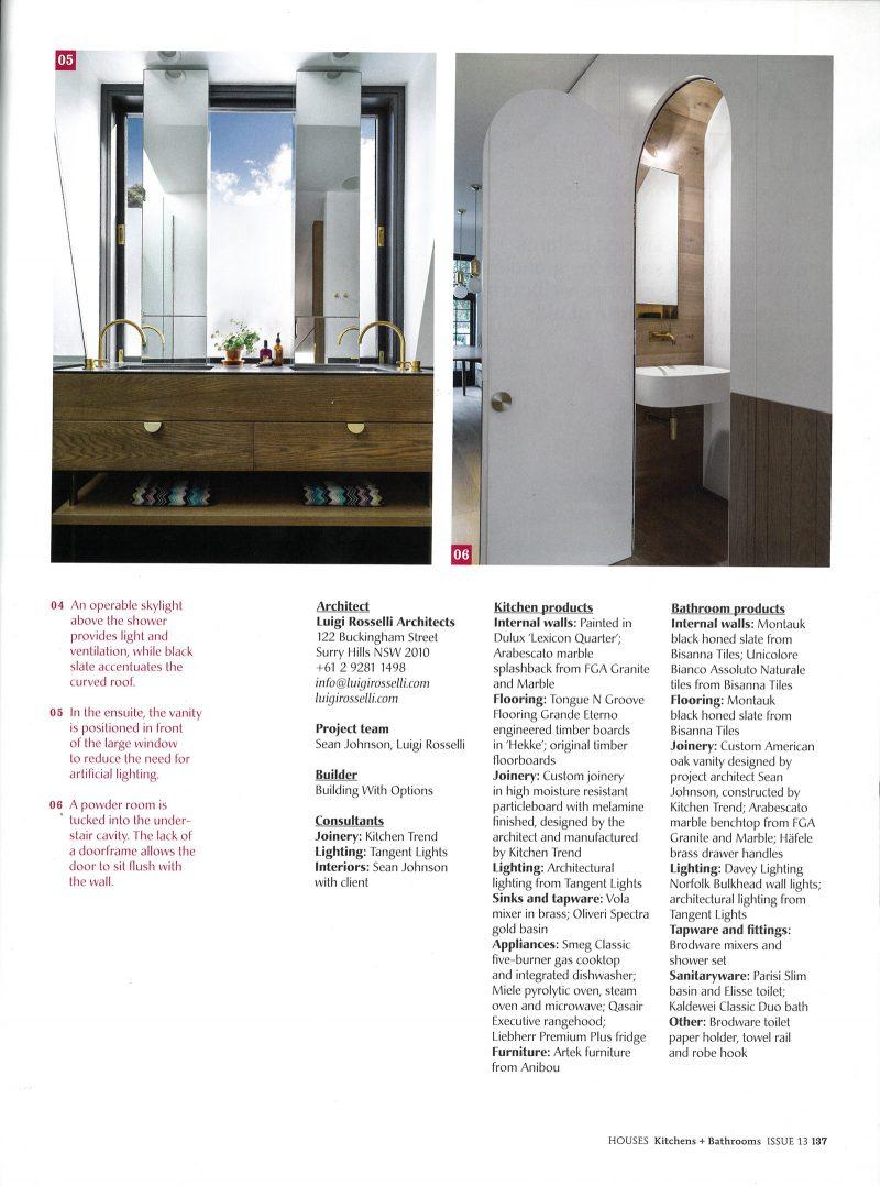 Luigi Rosselli Architects | Houses K&B