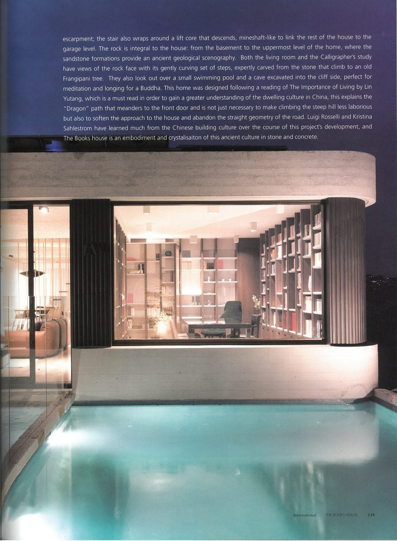 Luigi Rosselli Architects | The Books House | Deco Journal
