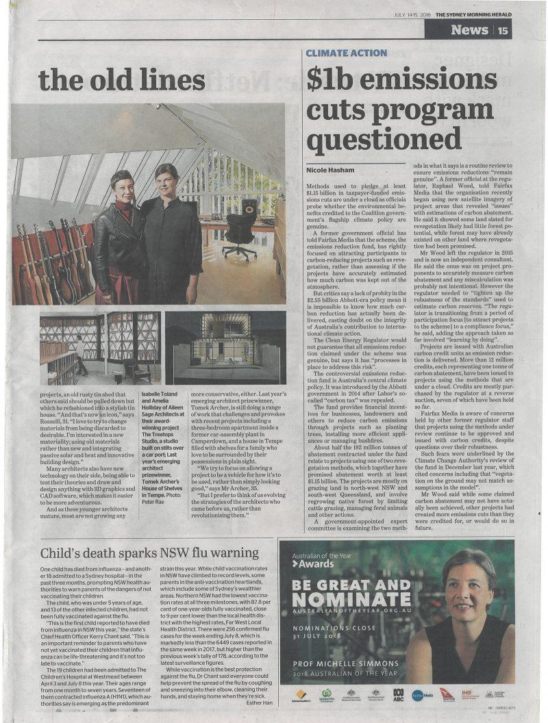 Luigi Rosselli Architects | The Sydney Morning Herald