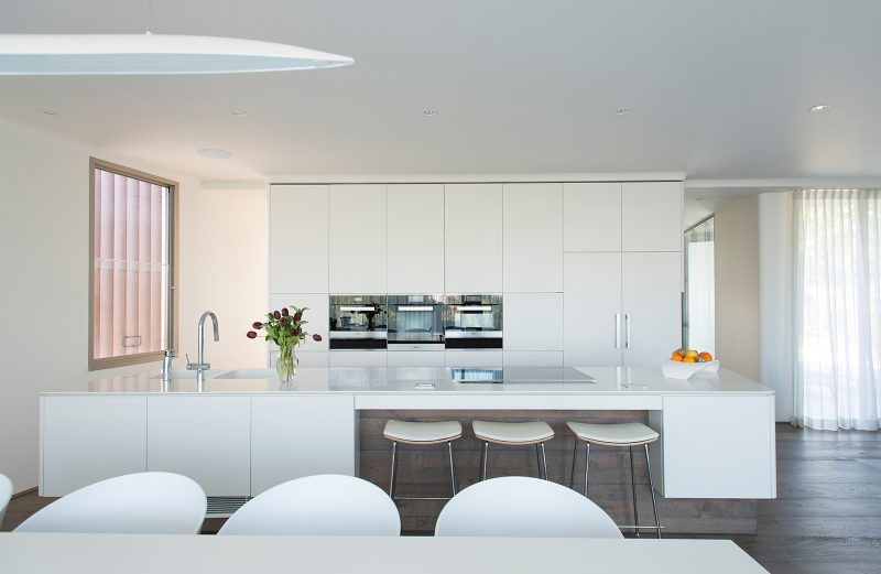 Luigi Rosselli Architects, Kitchen Island Bench, Corian Benchtop, Integrated Sinks, Miele Appliances, Kitchen Design, Custom Kitchen Joinery