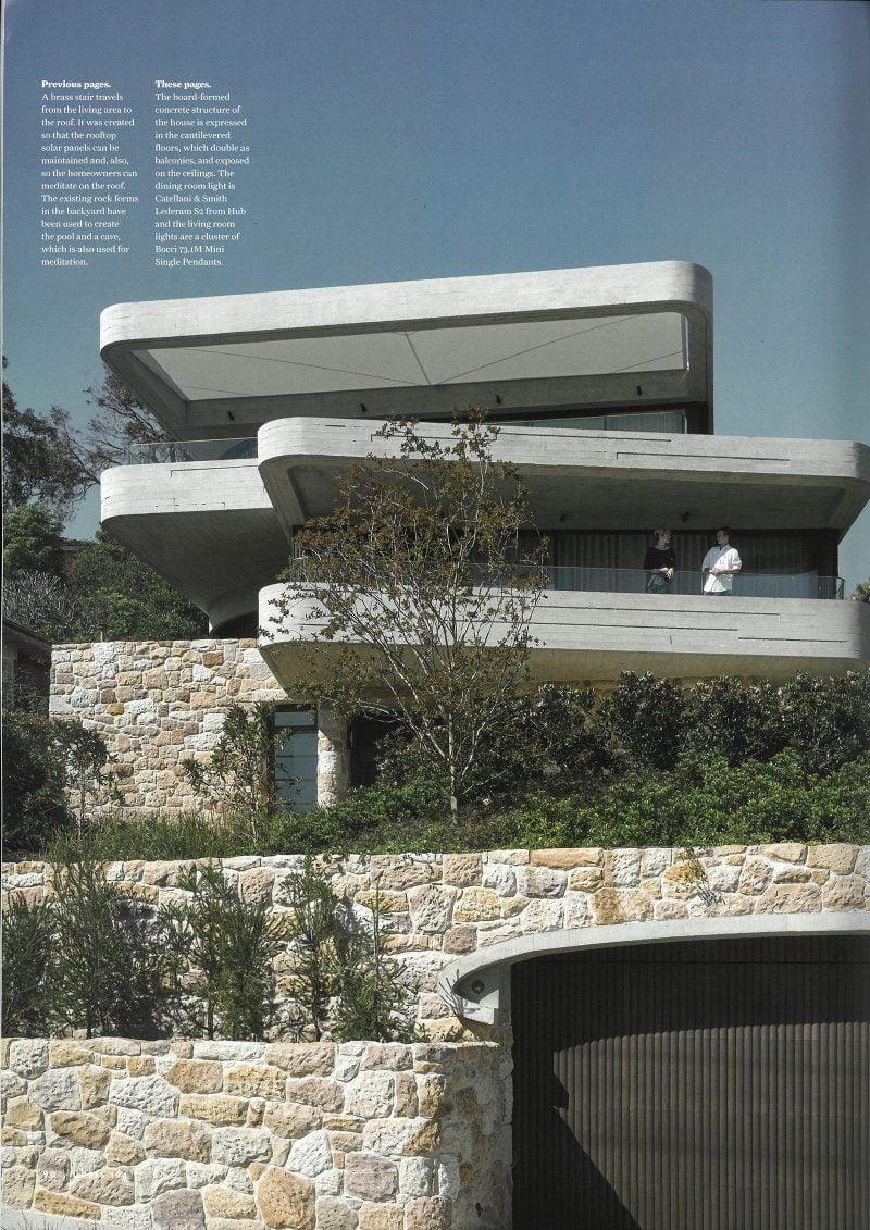 Luigi Rosselli, Sandstone, Stone, Concrete, Off Form Concrete, Cantilever, Timber Garage Door