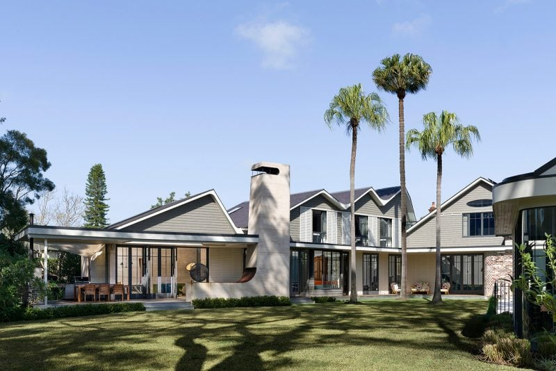Luigi Rosselli Architect, Gable Roof, Pitched Roof, Rammed Earth, Rammed Earth Walls, Rammed Earth Chimney, Palm Trees